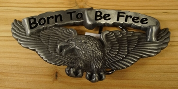"""Motor buckle  """" Born to be free """"  Adler"""