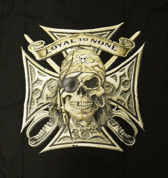 """T-shirt """" Loyal to none """"  Piratenschädel"""