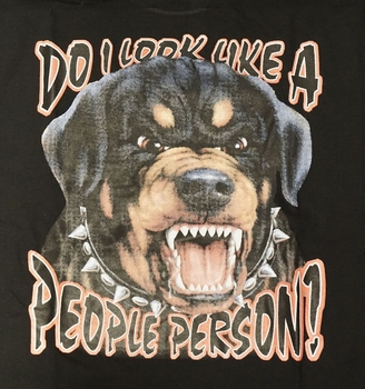 """T-shirt """" Do i look like a people person ! """""""