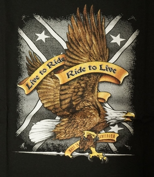 """T-shirt """" Live to ride, ride to live """" Adler"""