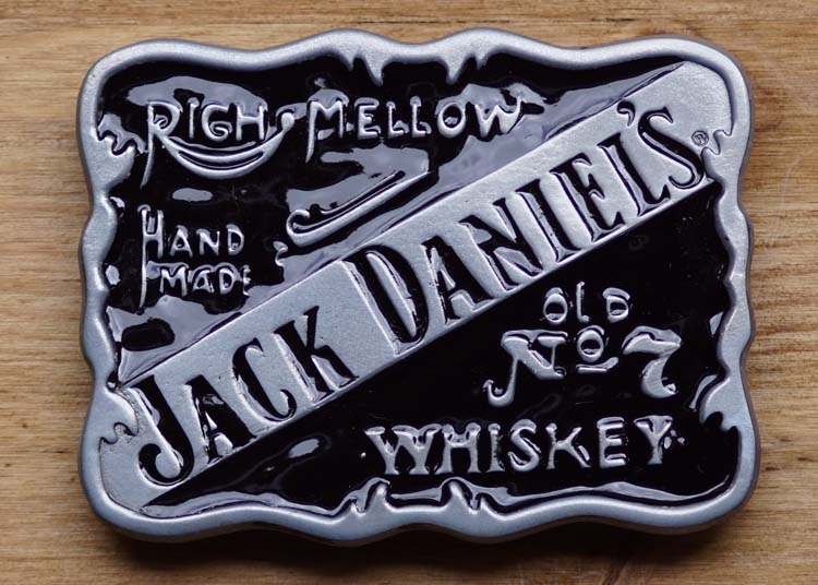 """Jack Daniels Schnalle """" Righ mellow, hand made, Old no 7 """""""