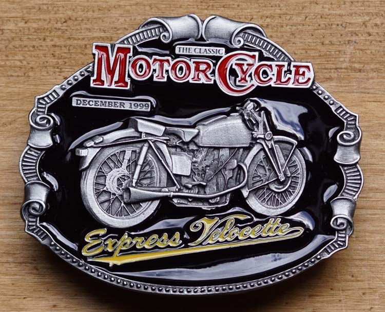 """Motor cylce buckle  """" Express Velocette """""""