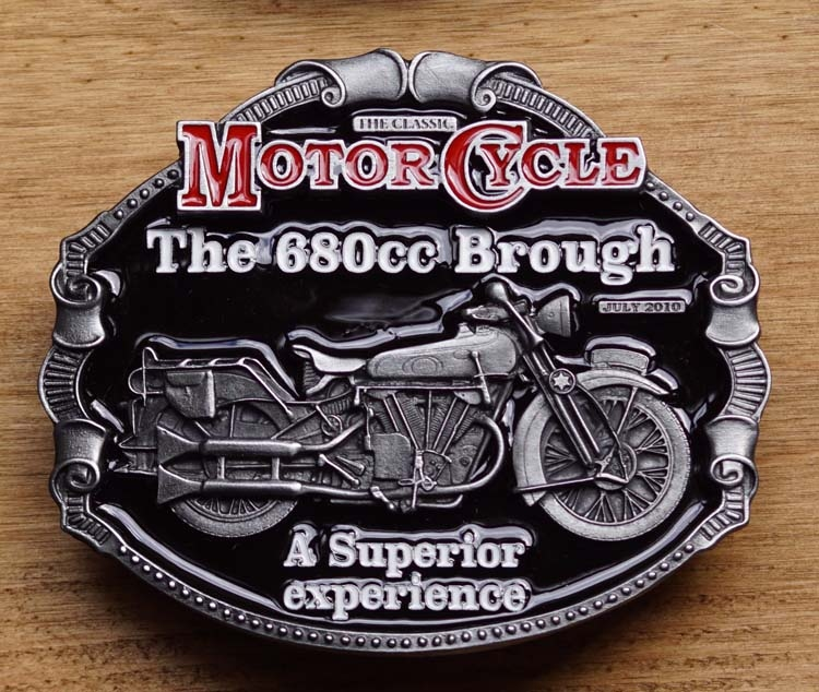 """Motor cylce buckle  """" The 680cc Brough a superior .... """""""