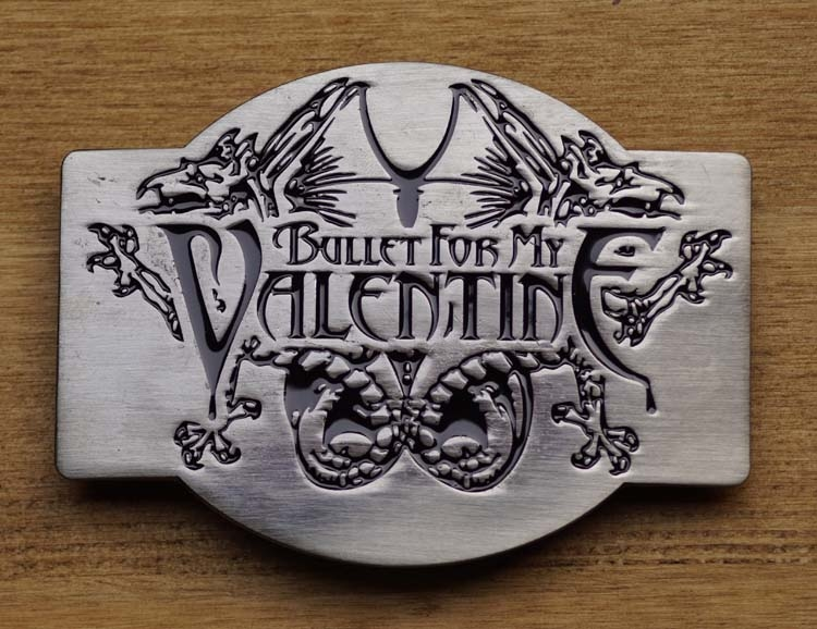 """Music band buckle  """" Bullet for my Valentine """""""