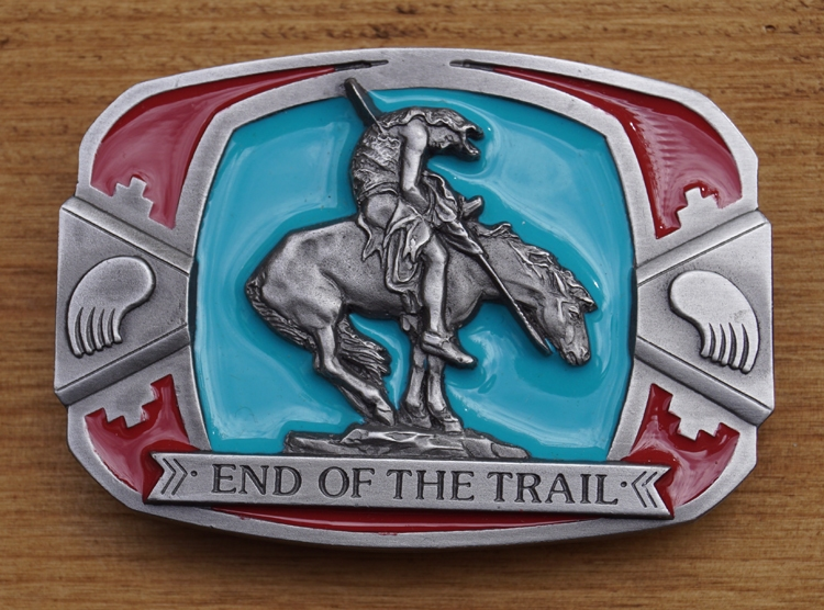 """Schnalle  """" End of the Trail """""""