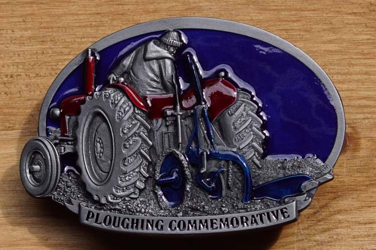 """Schnalle  """" Ploughing commemorative """""""