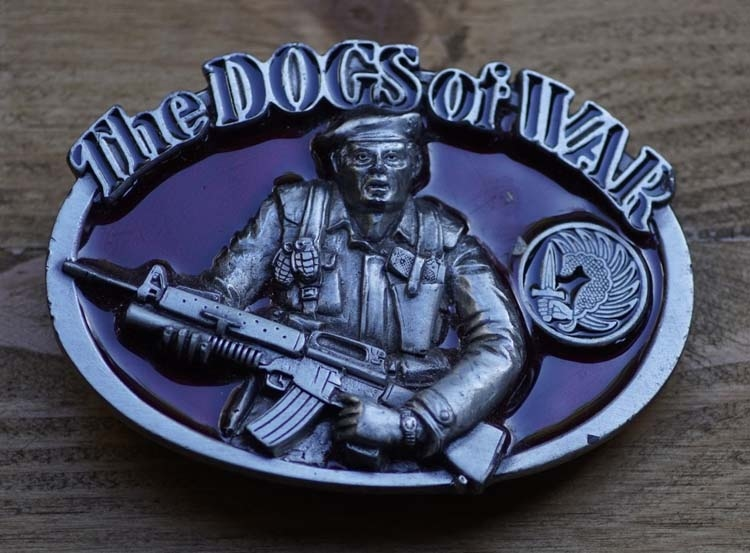 """Schnalle """" The dogs of war """" (Hunde des Krieges Commondos)"""