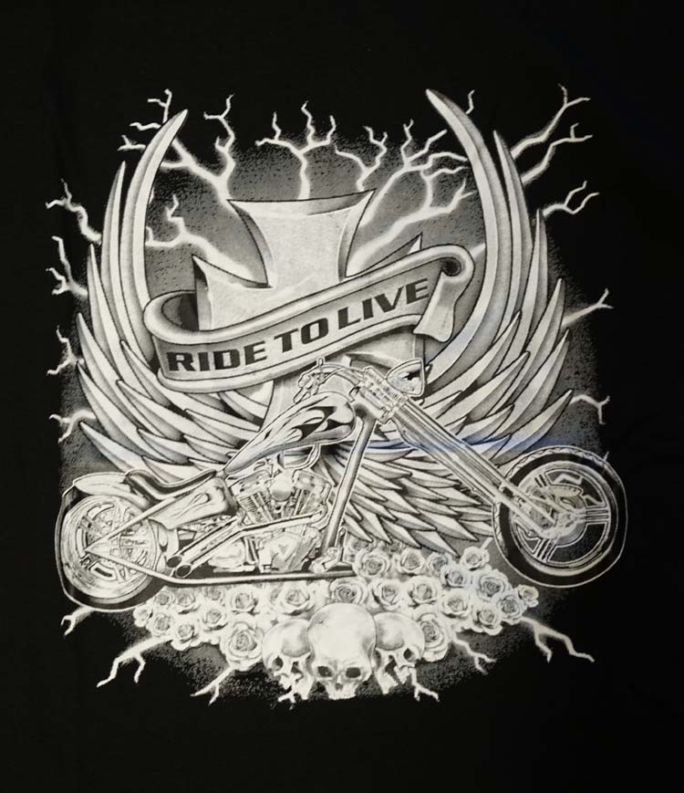 """T-shirt """" Ride to live """""""